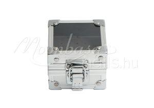 Ezüst fém Karbid fej tároló Display box csattos #012