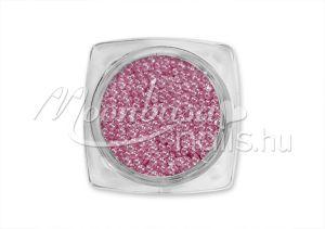 Szürkés rózsaszín Kaviár gyöngy  #112