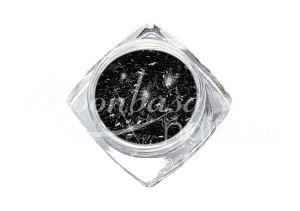 Fekete Kis méretű flitter csíkok 3g FCS010