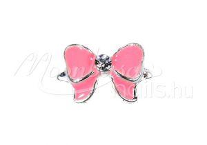 Köröm ékszer  #01 Rózsaszín pillangó masni