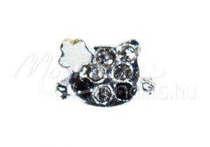 Masnis cica, fekete szemekkel Köröm ékszer  #11