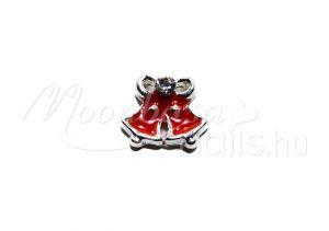 Köröm ékszer  #92 Piros Karácsonyi csengő