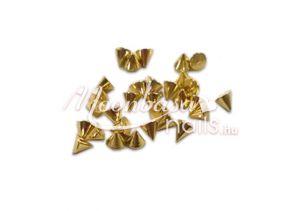 Arany szegecs Köröm ékszer 30 db
