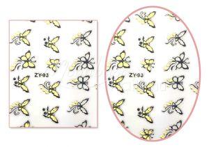 Fekete-arany pillangók V3 mintájú Köröm matrica öntapadós