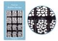 Körömdíszítés sablon – köröm stencil JV220B Black