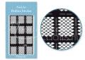 Körömdíszítés sablon – köröm stencil JV203B Black