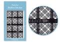 Körömdíszítés sablon – köröm stencil JV205B Black