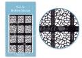 Körömdíszítés sablon – köröm stencil JV206B Black