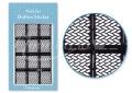 Körömdíszítés sablon – köröm stencil JV212B Black