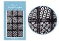 Körömdíszítés sablon – köröm stencil JV214B Black