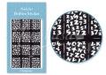 Körömdíszítés sablon – köröm stencil JV217B Black
