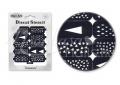 Körömdíszítés sablon – köröm stencil NS01B