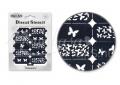 Körömdíszítés sablon – köröm stencil NS02B