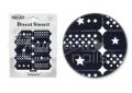 Körömdíszítés sablon – köröm stencil NS05B