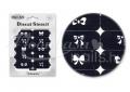 Körömdíszítés sablon – köröm stencil NS12B