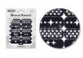 Körömdíszítés sablon – köröm stencil NS16B