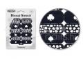 Körömdíszítés sablon – köröm stencil NS19B