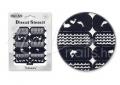 Körömdíszítés sablon – köröm stencil NS22B