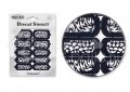Körömdíszítés sablon – köröm stencil NS33B