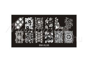 Körömnyomda lemez 6x12cm BM-XL06