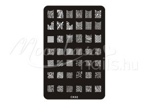 Körömnyomda lemez 9,5x14,5cm CK-02