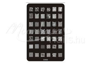 Körömnyomda lemez 9,5x14,5cm CK-03
