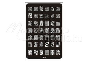 Körömnyomda lemez 9,5x14,5cm CK-04