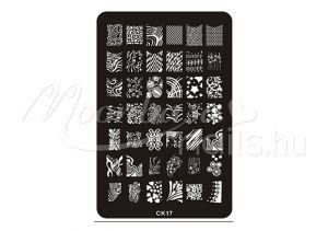 Körömnyomda lemez 9,5x14,5cm CK-17