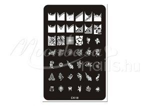 Körömnyomda lemez 9,5x14,5cm CK-18