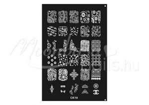 Körömnyomda lemez 9,5x14,5cm CK-19