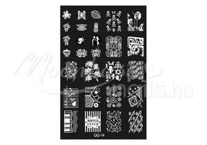 Körömnyomda lemez 9,5x14,5cm QQ-14