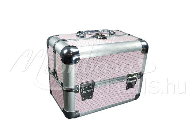 Rose csillámos Kozmetikai bőrönd kicsi  280-R műkörmös alapanyagok ... 7541a68ec6