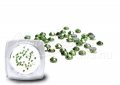 Kristály strasszkő, 50 db, #SS4, Light Emerald