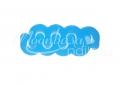 Lábujj szeparátor hullám - szilikon   Kék