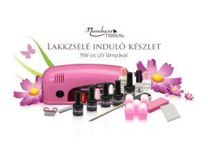 Lakkzselé induló készlet 9W rózsaszín UV lámpával