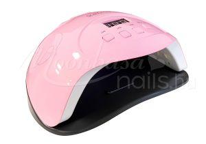 Rózsaszín LED nail lámpa 90W