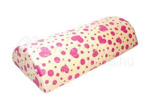 Vaníliasárga alapon rózsaszín szívecskék Mosható könyöktámasz