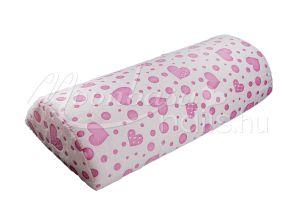 Világos rózsaszín alapon rózsaszín szívecskék Mosható könyöktámasz