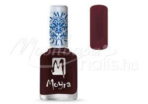 Burgundy Red Nyomdalakk - Moyra 12ml SP 03