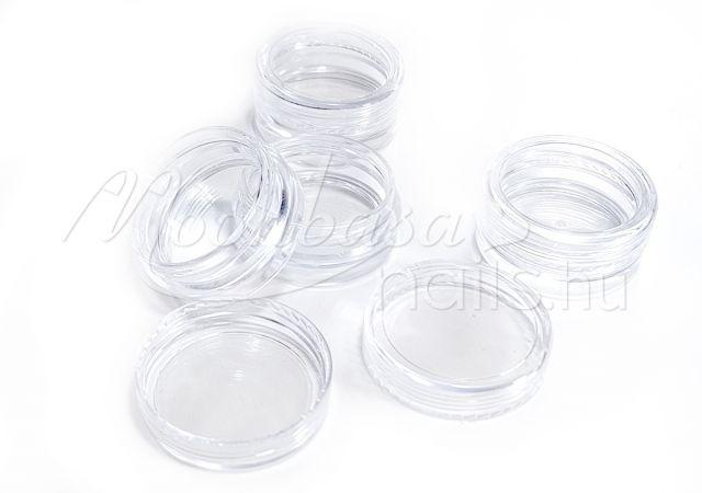 Műanyag Kerek tégely 12x5ml/tálca #003 Átlátszó