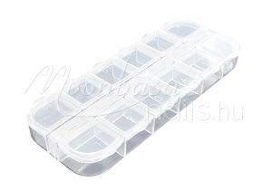 Műanyag tároló doboz 12 rekeszes #024 Átlátszó