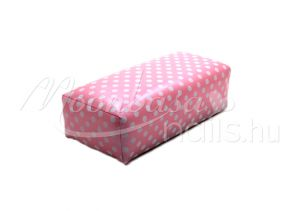 Mini műbőr könyöktámasz   Pink pöttyös
