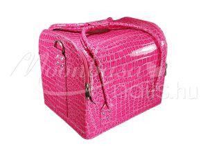 Fényes pink Műkörmös táska  #001-LP