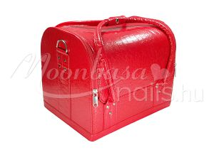 Fényes piros Műkörmös táska  #001-LR