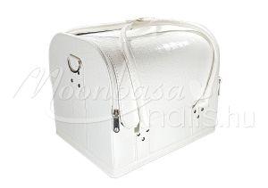 Műkörmös táska  #001-LW Fényes fehér