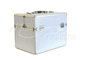 Csillámos fehér Műkörmös táska  #380-W