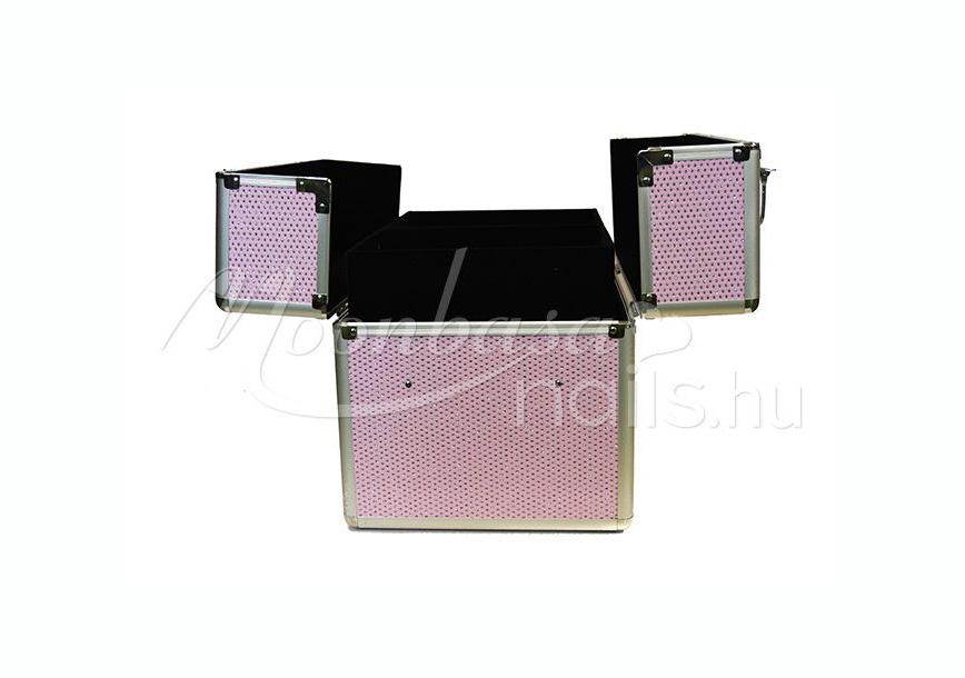 Műkörmös táska  #380-R Csillámos rózsaszín