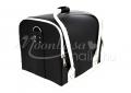 {$metatitle_ackio} Fekete fehér Műkörmös táska pánttal   műkörmös alapanyagok, kellékek szállításához