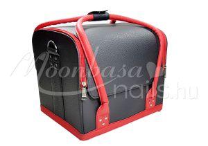 Fekete-piros Műkörmös táska  #002-BR