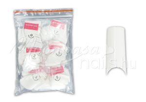 Műköröm Nail tip csomag 500db #009-W Félköríves - fehér